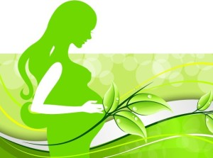 Green-Pregnant-Woman-Silhouette-Vector